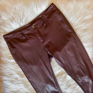 Blank NYC Faux Leather Brown Skinny Jeans